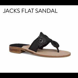 Jack Rogers flat sandal - black sz 7